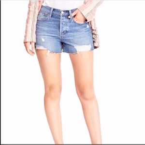 NWT free people Waves distressed jean shorts